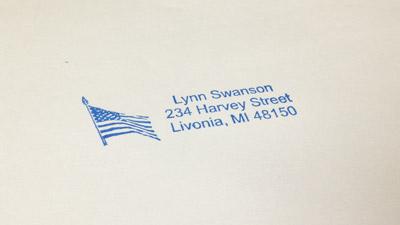 custom address stamps return