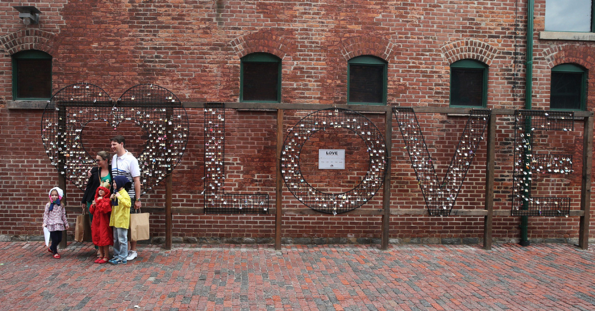 Love lock installation opens in Distillery District  The Star