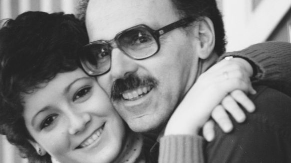 Alison Wearing with her dad, Joseph, in 1982.