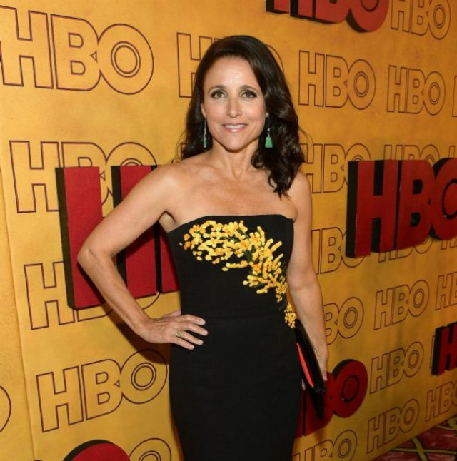 Julia Louis-Dreyfus attends HBO's Post Emmy Awards Reception at The Plaza at the Pacific Design Center on September 17, 2017 in Los Angeles, California.