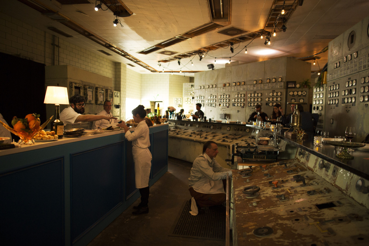 Peek inside the French restaurant in an abandoned power
