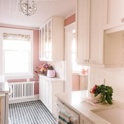 Cheap Backsplash For Kitchen Country Curtains Designer And Stylist Tickled Pink With Renovation ...