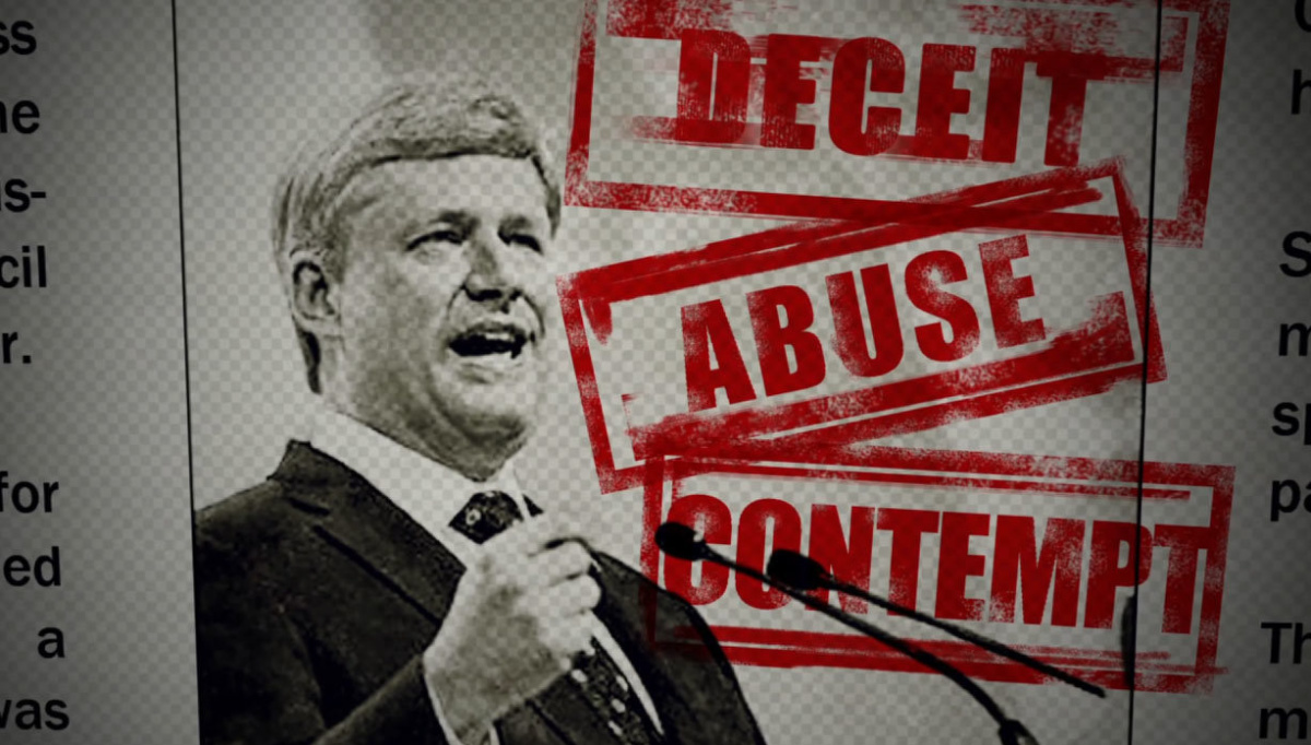 New Liberal Attack Ads Target Harper's 'contempt For