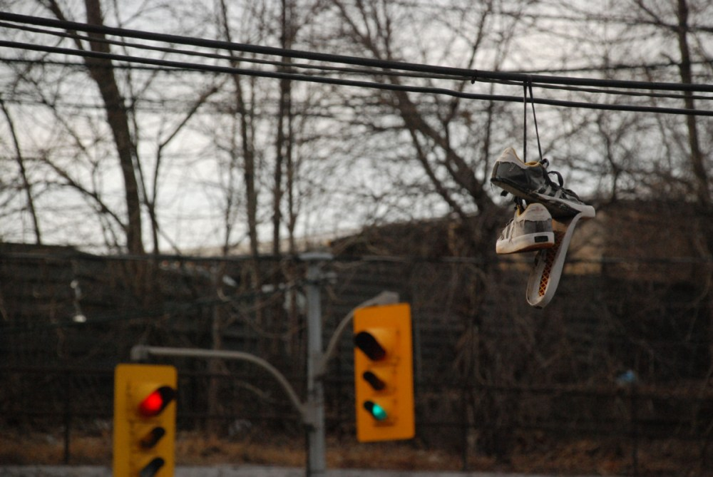 medium resolution of shoes dangle from wires overhead all over toronto what does it mean the star