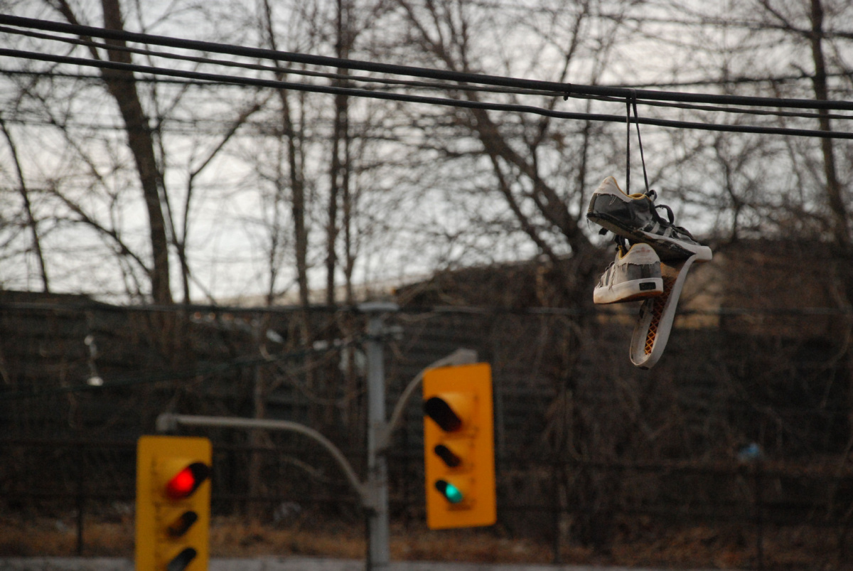 hight resolution of shoes dangle from wires overhead all over toronto what does it mean the star