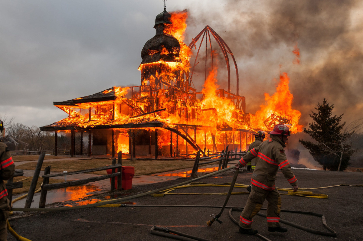 St Elias fire deemed accidental incense suspected