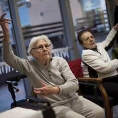 Chairs For Seniors Grey Upholstered Dining Room Reaching With Dementia Through Dance And Song   The Star