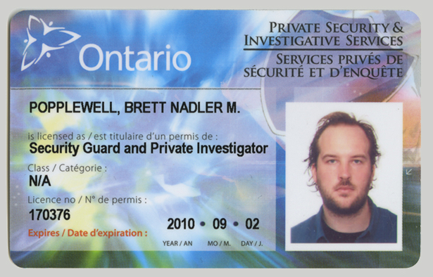 Private Security Guard License