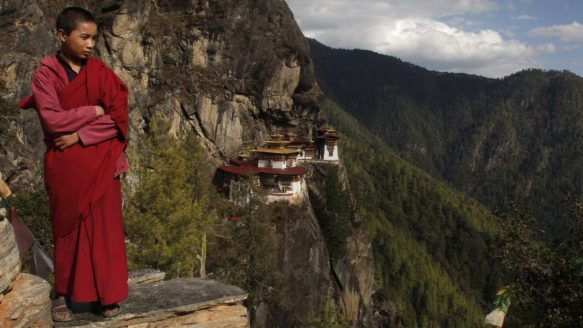 The duke and duchess will hike to visit the 1692 Taktshang monastery, also known as Tiger's Nest.