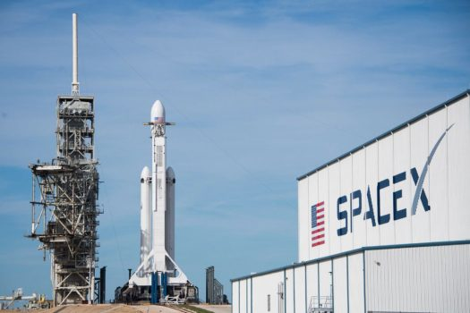 SpaceX's new Falcon Heavy rocket launches with Tesla on ...