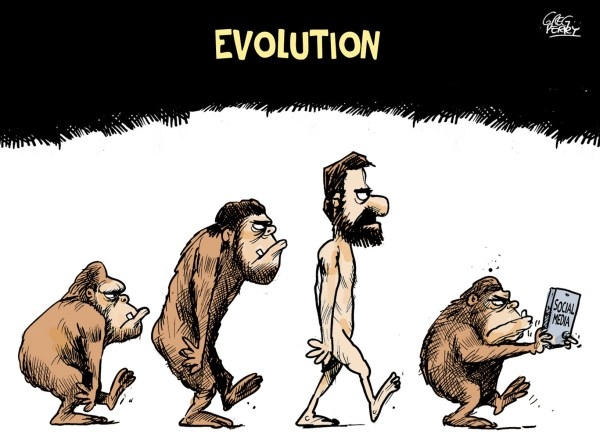 Evolution of Social Media Cartoon