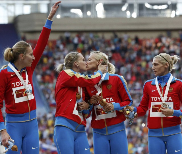 Russian Athlete Denies Podium Kiss Was Meant To Back Gay Rights