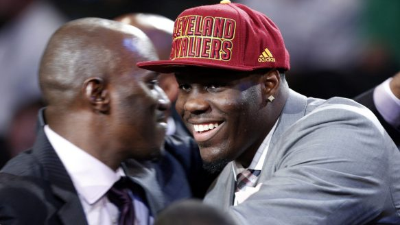 UNLV's Anthony Bennett smiles after being selected first overall by the Cleveland Cavaliers in Thursday night's NBA draft.