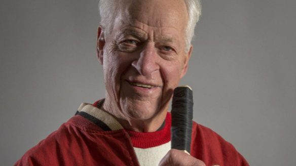 "Gordie Howe is shown a a recent handout photo from the new book ""Mr. Hockey."