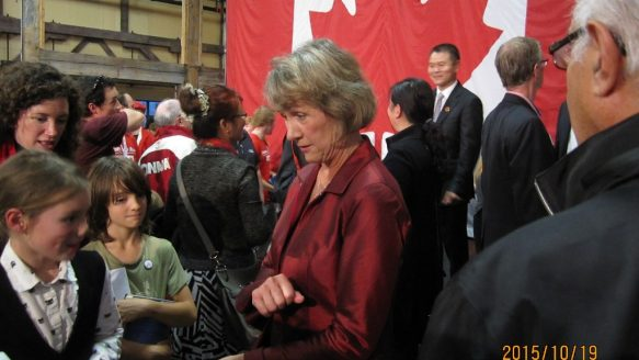 Joyce Murray at a rally in Vancouver Sunday. The former B.C. environment minister, who ran for the Liberal leadership in 2013, easily won her Vancouver-Quadra riding on Monday night.