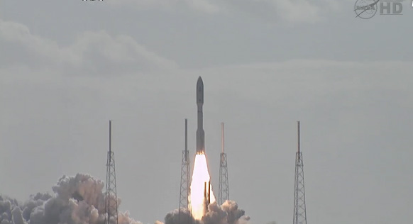 Screencap of MSL launch