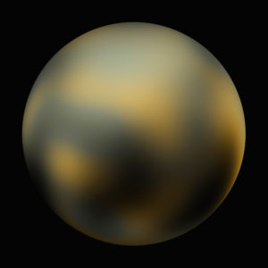 Pluto as imaged by Hubble in 2010.