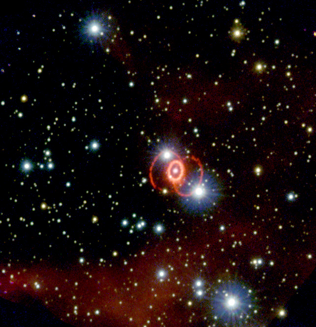 SN 1987A as imaged by Hubble in 1994