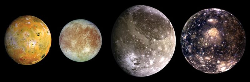 The Galilean Moons: Jupiter's four largest satellites