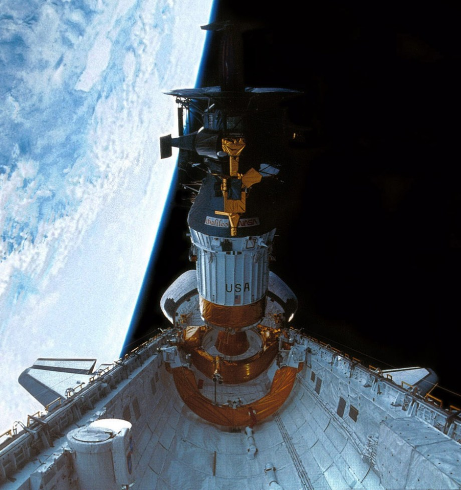 Galileo deploying from Shuttle Atlantis