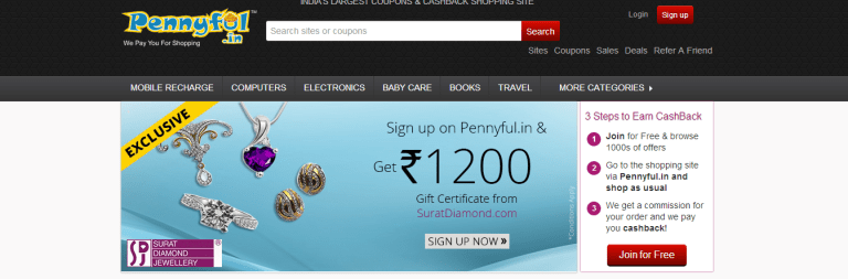 Pennyful.in – Gifting you, your money through cashback offers