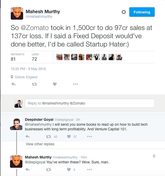 Mahesh Murthy Tweet