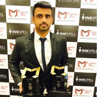 Dhruv after receiving award