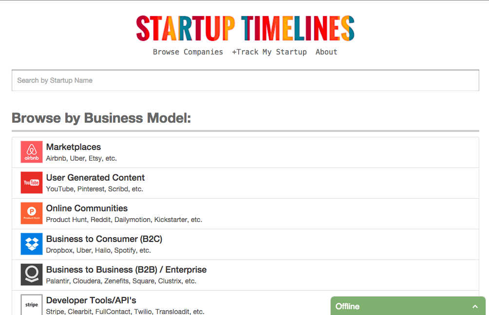 Pitch for Startup Timelines - The Startup Pitch
