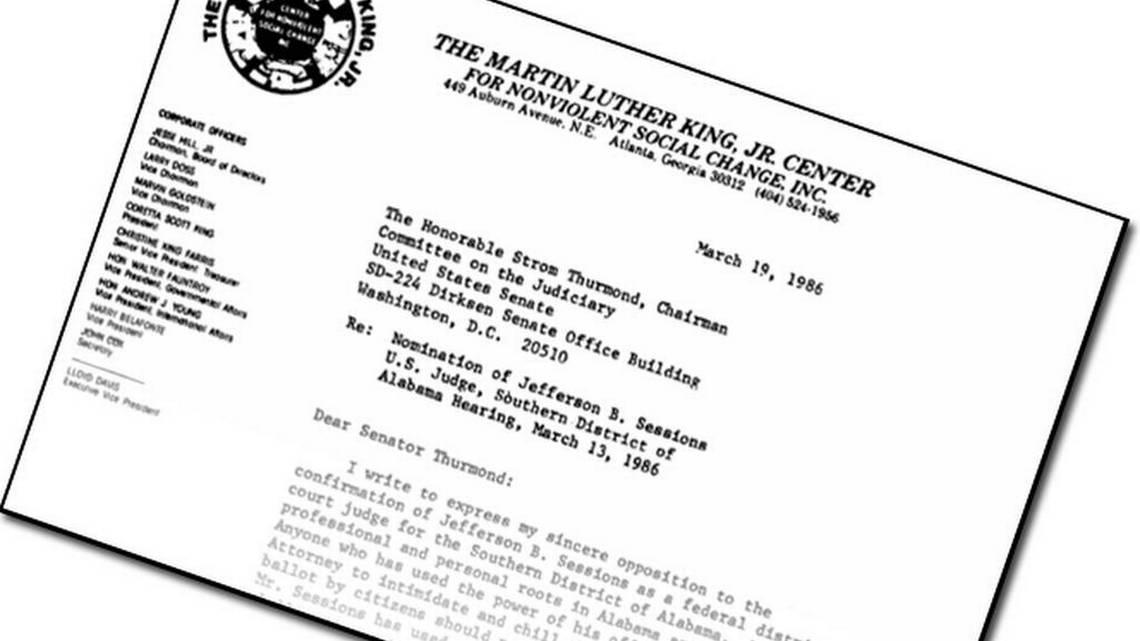 Read the letter Coretta Scott King wrote opposing Sessions