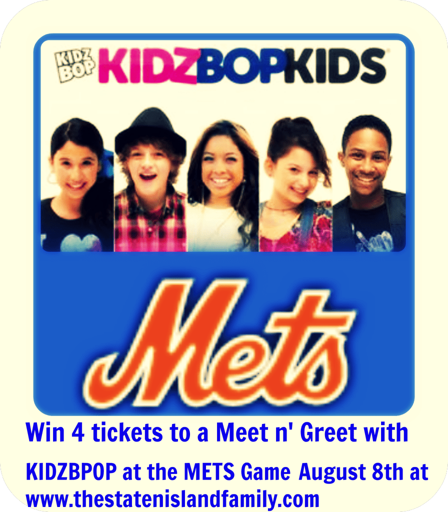 Win 4 tickets to a Meet n' Greet with KIDZBPOP at the METS Game August 8th at   www.thestatenislandfamily.com