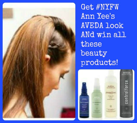 Get #NYFW Ann Yee's AVEDA look ANd win all these beauty products!