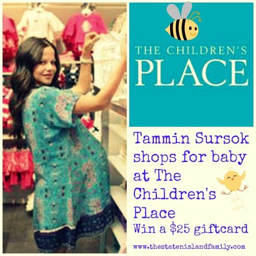 Tammin Sursok shops for baby at The Children's Place  Win a $25 giftcard  www.thestatenislandfamily.com