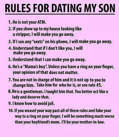 When you are raising a Mama's Boy there are no hard and fast rules