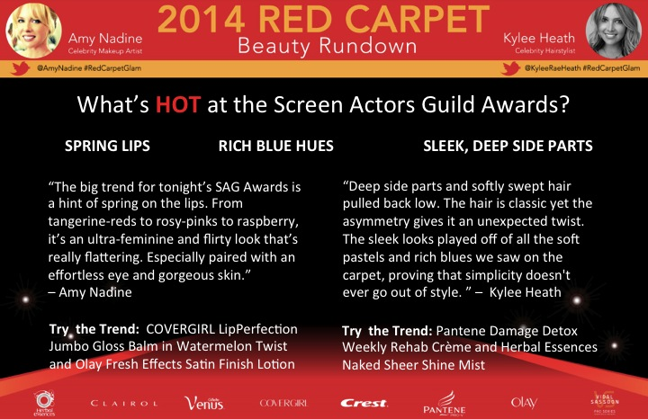 P&G Beauty Red Carpet Trends - SAG Awards Edition