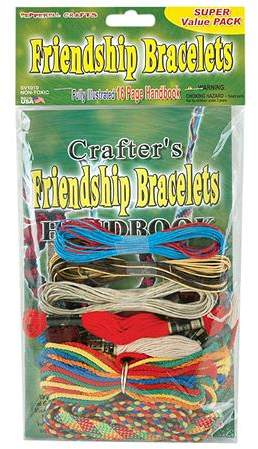 This super value pack contains various cords and a fully illustrated how-to handbook for braiding colorful and fun friendship bracelets