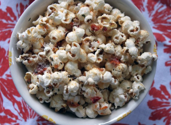 Try this recipe for Pizza Popcorn