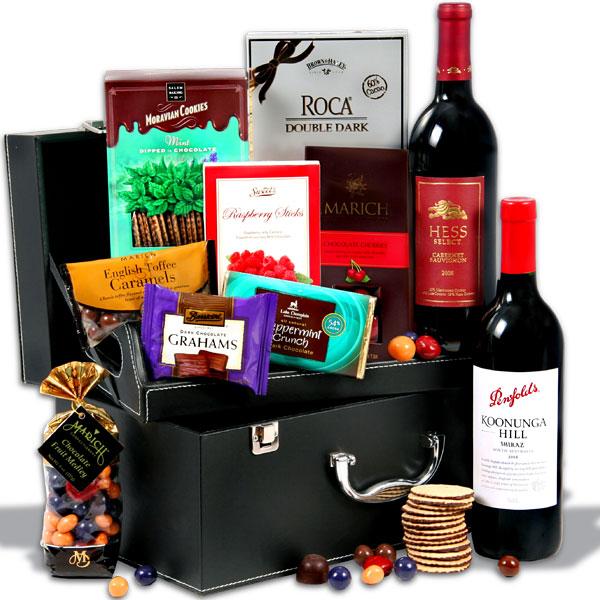 Red Wine And Dark Chocolate Suitcase with Torpedo Cigar, $179.99