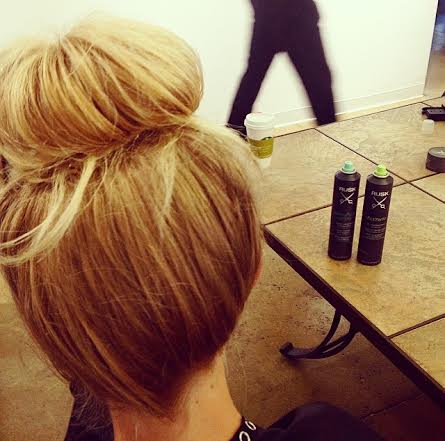 Get the Look: Top Knots are Top Notch Backstage at Yoana Baraschi NYFW