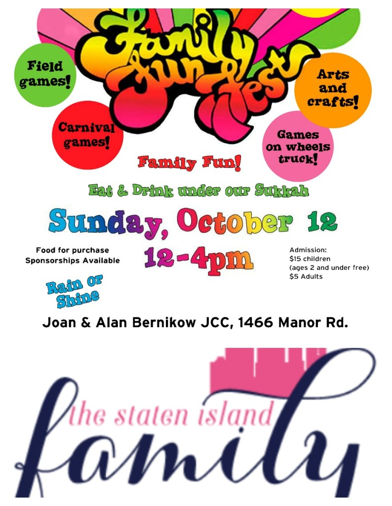 The Staten Island Family is a SPONSOR of The DART Family Fun Fest October 12 @ 12:00 pm - 4:00 pm