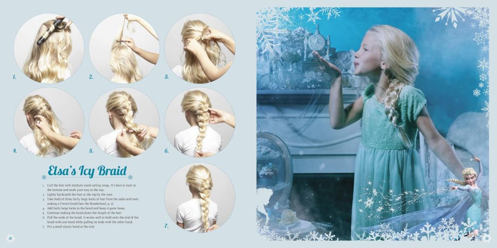 Get the look: Elsa's Icy Braid