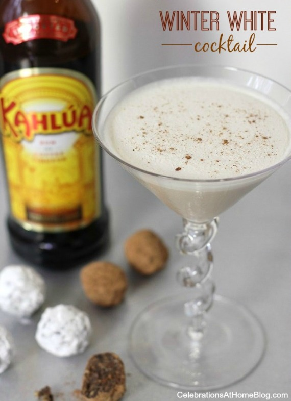Kahlúa Balls & Winter White Cocktail