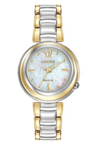 win this Stunning, stylish and daring - CITIZEN L® introduces an iconic timepiece made especially for women. With an elegant white Mother-of-Pearl dial and sapphire crystal, the Sunrise series sets the standard for timeless women's fashion. In a reverse two-tone stainless steel case and bracelet from Thestatenislandfamily.com