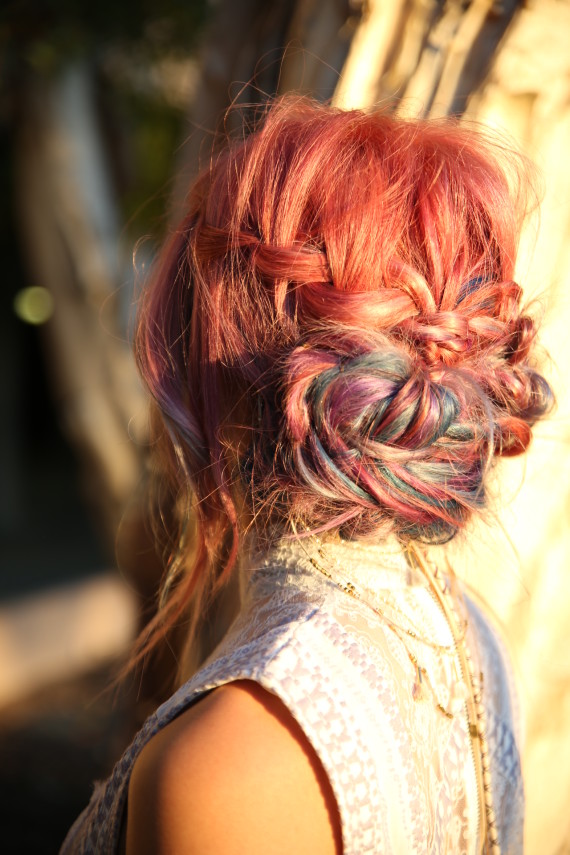 How to create a festival worthy coiled up do