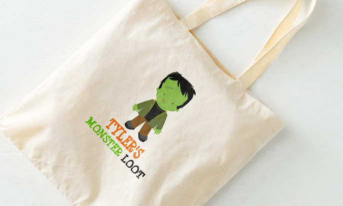 Whether you are giving out Candy, making crafts or you just want to make sure every party-goer has a resusable keepsake Zazzle has a plethora of cute Halloween totes you can customize ranging from Spooky to the sweet!