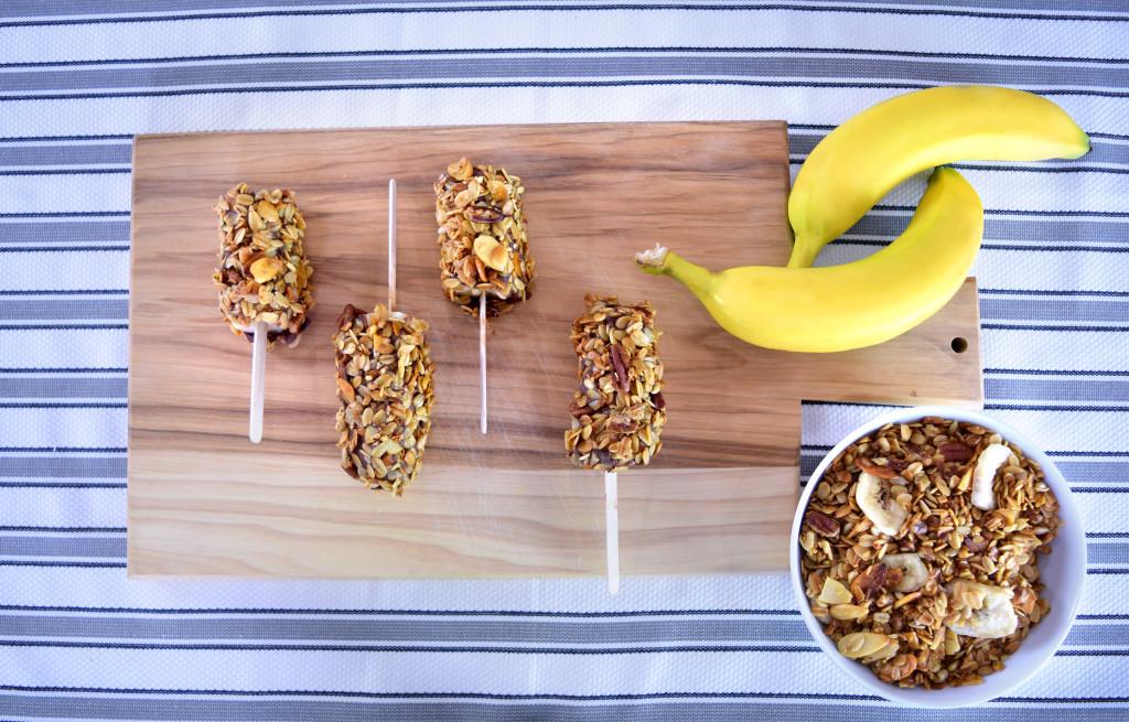 Banana Granola Pops