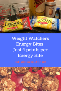 Weight Watchers Energy Bites Just 4 points per Energy Bite