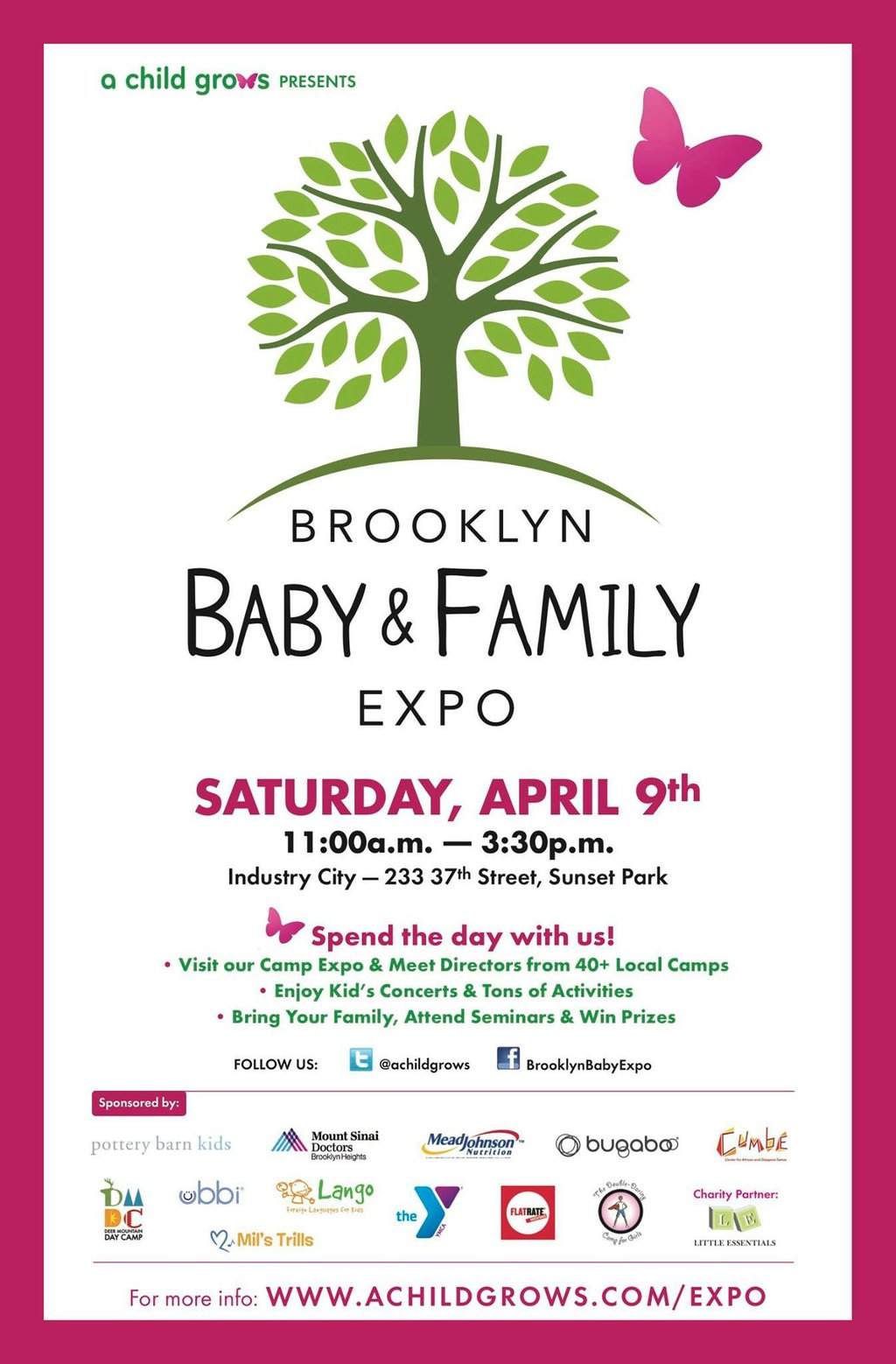 Win 2 VIP Passes to the #BklynBabyFamilyExpo and a $200 Bag filled with Kid Swag!