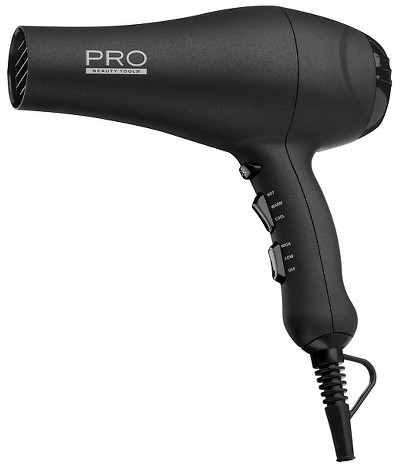 Pro Beauty Tools 1875W Ionic AC Motor Dryer - Black
