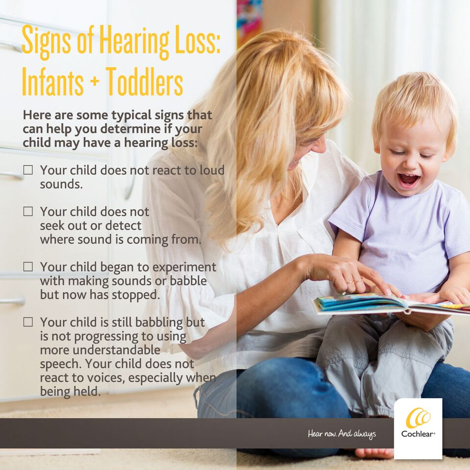 Signs of hearing Loss in Indants and Toddlers #IWantToHear