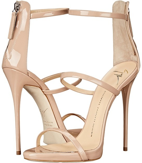 Simply beautiful is what you get wearing the Giuseppe Zanotti High Heel Back-Zip Three-Strap Sandal